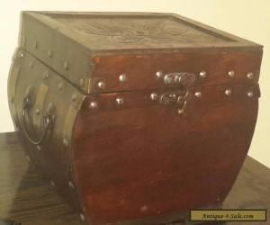 Vintage Small Decorative Wooden Box Treasure Chest for Sale