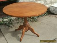 ANTIQUE VICTORIAN CHERRY TABLE TILT TOP MID 1800'S