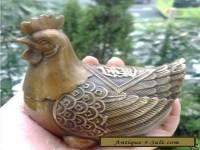 """Chinese bronze statue craft works Brass """"Wealth"""" hens"""