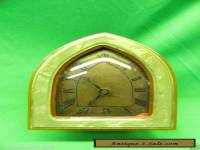 Table Mantle Bedside Clock Bakelite or Early Plastic Celluloid Resin Has Bracket