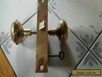Antique mortise lock  (working skelton key )