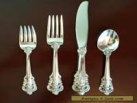 Wallace Sterling Grande Baroque 4 Piece Place Setting - Great Condition