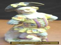 "Antique Meissen Porcelain Figurine 5"" COLORFUL DANCING YOUNGSTER EXCELLENT"