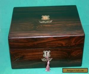 Antique Victorian Coromandel & Mother of Pearl Sewing Box for Sale