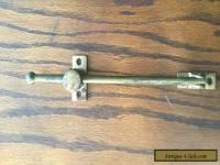 Antique  Cast Iron TRANSOM ROD Ajustable Bracket Window Door Brass Finish