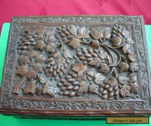 antique carved wooden box for Sale