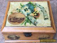 Vintage Mauchline Ware Box Harrogate Southport Chatsworth House
