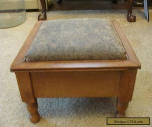 Antique Wooden Foot Stool Rest Ottoman Mahogany Vintage Refurbished Nice for Sale