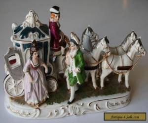 Vintage Horse and Carriage with figures for Sale