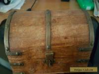 Wooden   brass  chest