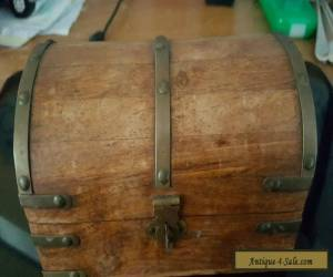 Wooden   brass  chest  for Sale