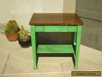 Antique Wood MISSION STYLE  Art Deco SIDE TABLE / Center Island -