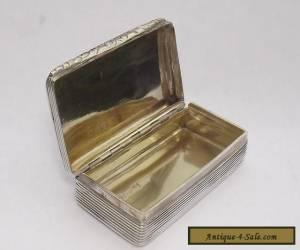 ANTIQUE GEORGIAN HALLMARKED SOLID SILVER STERLING SNUFF BOX BIRMINGHAM 1830  for Sale