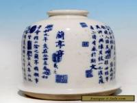 Rare Old Chinese Blue and White Porcelain Brush Washer Ink Pot WJ116