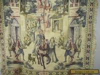 Vintage antique style jacquard tapestry Middle Eastern theme