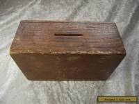 Vintage Wooden Church Chapel Money Collection Box / Poor