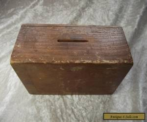 Vintage Wooden Church Chapel Money Collection Box / Poor for Sale