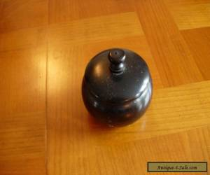 Vintage Small Ebony Container for Sale