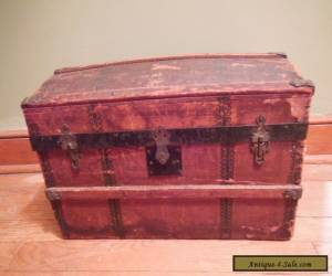 Antique Wooden Victorian Steamer Doll Toy Trunk  ~Jenny Lind Style~ Dome Top for Sale