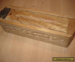 VINTAGE HAND CARVED WOODEN PENCIL BOX for Sale