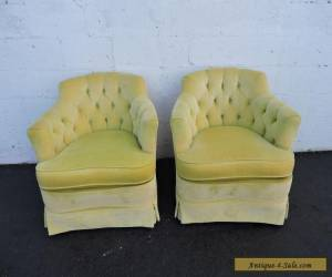 Pair of Vintage Tufted Mid Century Side Chairs by Woodmark Originals 7147 for Sale