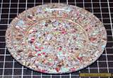 BAKELITE BASE PLATE - MULTI COLOUR SPECKLE - END OF DAY - ENGLISH for Sale