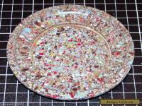 BAKELITE BASE PLATE - MULTI COLOUR SPECKLE - END OF DAY - ENGLISH