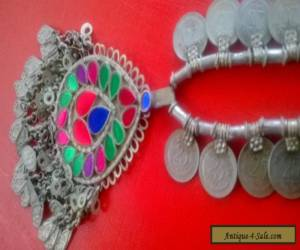 RARE Antique Tribal KUCHI Necklace AFGHANISTAN 1960s  for Sale
