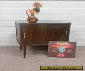 VINTAGE MID CENTURY MODERN RECORD CABINET STORAGE MEDIA ANTIQUE NIGHTSTAND for Sale