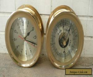 BELL CLOCK Co. GERMAN SHIP'S BELL CLOCK AND BAROMETER  for Sale