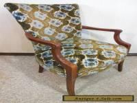VINTAGE MAHOGANY FRAME LIVING / SITTING ROOM CHAIR -60+ YRS OLD