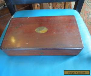 Antique Mahogany Box 30 x 15 x 6 cm Solid Condition for Sale