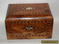 Antique 19c Domed Inlaid Walnut Sewing Box For Restoration