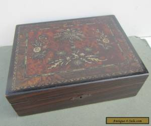 Old Decorative Painted Wooden Box for Sale