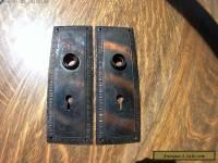Two Metal Vintage Antique Decorative Door Plates