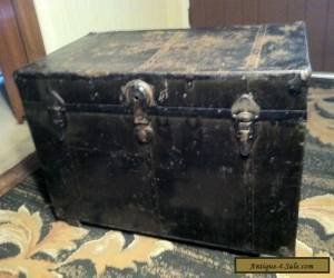 Antique Vintage Steamer Trunk Metal & Wood -Early 1900's!  for Sale