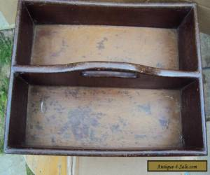 ANTIQUE WOODEN CUTLERY BOX for Sale