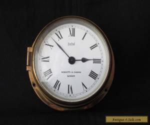 "Vintage 4"" Sestrel Ships Clock 8 Day Brass Beautiful London for Sale"