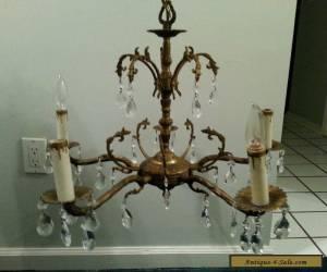 Antique Vintage Chandelier Ornate 5 Light Solid Brass   for Sale