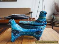 Bitossi Rimini Blue Italian Pottery Modern Mid Century Aldo Londi Raymor