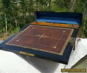 Antique Victorian RARE late 18th Century Flame Mahogany Quality Writing lap box. for Sale