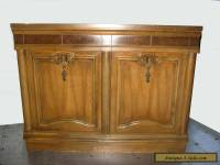 Vintage Mid Century Modern Solid Wood ENTRY TABLE Server Credenza