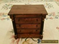 Antique Colonial 3 Drawer Mahogany Biedermeier Collectors Chest of Drawers