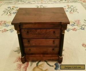 Antique Colonial 3 Drawer Mahogany Biedermeier Collectors Chest of Drawers for Sale