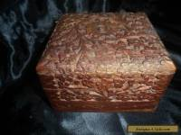 Vintage  Hand Carved Wood Box