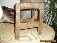 AFRICAN BUSHMAN STOOL FROM THE CONGO