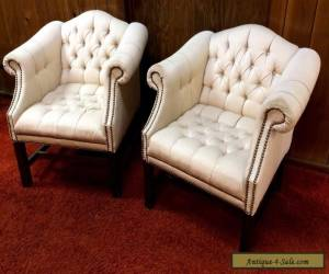Tufted Club Chair's SET Chippendale Shabby Mid Century Modern 2 Lounge Retro htf for Sale