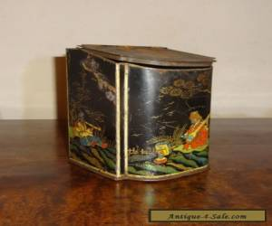 ANTIQUE CHINESE TEA CADDY TIN, ORIENTAL, VINTAGE for Sale