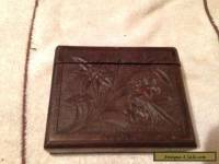 Vintage, Carved Wooden, Black Forest Wear Cigarette Box.