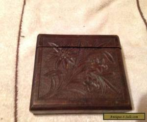 Vintage, Carved Wooden, Black Forest Wear Cigarette Box. for Sale